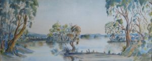 1945-langs-stille-waters~water-colour~21cm-x-51cm