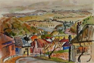 1949-landscape-with-houses~water-colour-on-paper~16cm-x-26cm