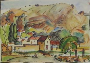 1949-melville~water-colour-on-paper~17cm-x-24cm