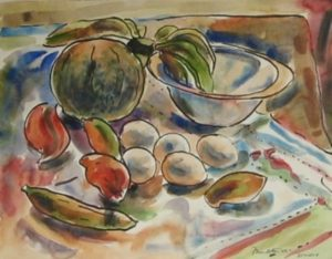1949-still-life~water-colour-on-paper~25cm-x-31cm
