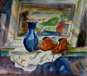 1950-still-life-dirkies-shoes-water-colour-on-paper-30cm-x-32cm-section-1-artists-collectionimg_0062