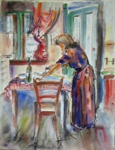 1950-woman-at-work-water-colour-on-paper-38cm-x-29cm-unframed-section-1-artists-collection-img_0071
