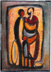 1956-family-oil-on-hard-board-35cm-x-25cm-section-3-no-112-artists-collection