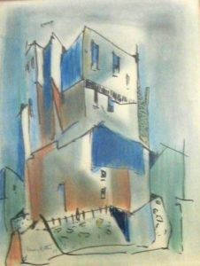 1958-spanish-villa-water-colour-37cm-x-25cm-framed-with-glass-section-10-no-131-artists-collection131-img_0055
