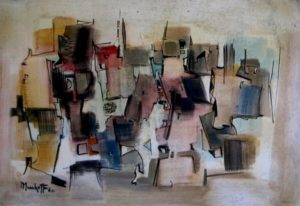 1961-city-scape-acrylic-on-hard-board-35cm-x-51cm-unframed-section-4-no-192-artists-collection