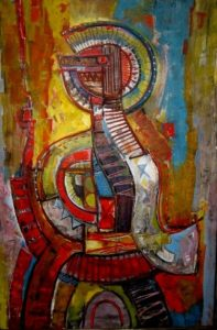 1979-warrior-iii-acrylic-on-canvas-92cm-x-61cm-wooden-frame-section-4-no-64-artists-collection