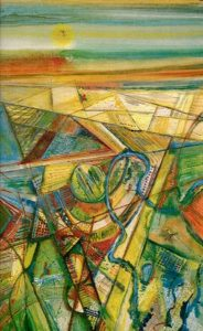 1984-aerial-view-oil-on-canvas-15m-x-1m-framed-no-97-saa-collection