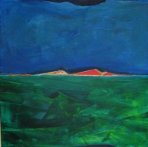 1997-summerscape-acrylic-on-canvas-121cm-x-1215cm-wooden-frame-section-1-no-12-artists-collection