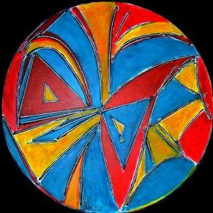 2006-circular-theme-acrylic-on-canvas-1m-x-1m-unframed-section-11-no-323-artists-collectionmeerkotter